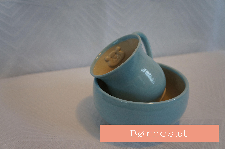 Keramiknissen børnesæt keramik krus og skål