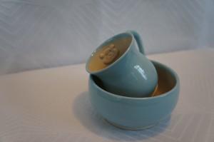 Keramik Børnesæt lyseblå dreng