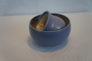 Børnesæt i keramik lilla