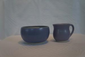 Keramiknissen børnesæt i lilla skål og kop