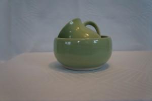 Børnesæt keramik grøn