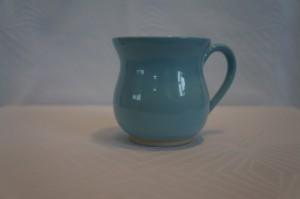 lyseblå kop